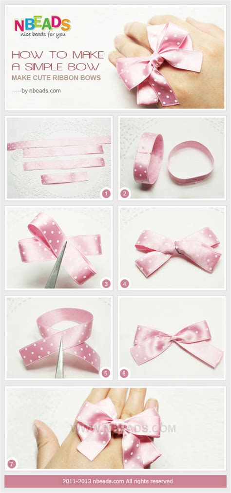 how to make a ribbon bow for a card how to make a simple bow make ribbon bows pictures