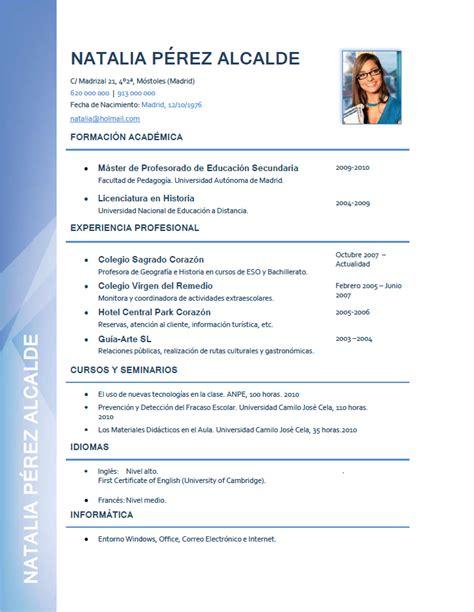 Plantilla De Curriculum Vitae Para Docentes Modelo De Curriculum Vitae Docente Modelo De Curriculum Vitae