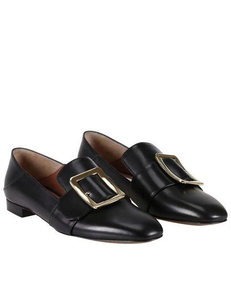 bally flat shoes bally ballet flats shoes in black modesens