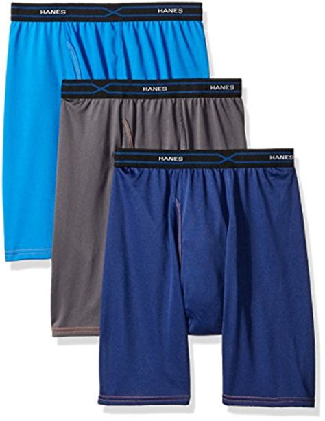 Hanes Comfort Cool Boxer Briefs by Free Shipping Hanes Label Mens 3 Pack Freshiq X Temp