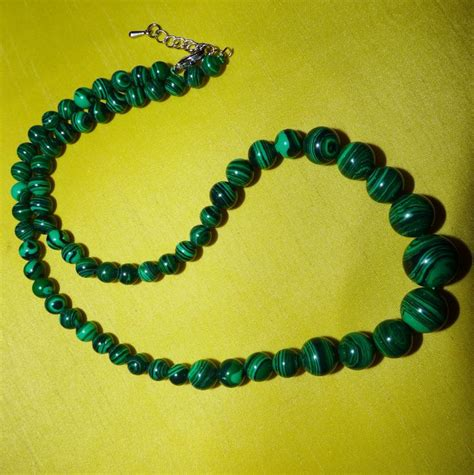 malachite bead necklace malachite bead necklace catawiki
