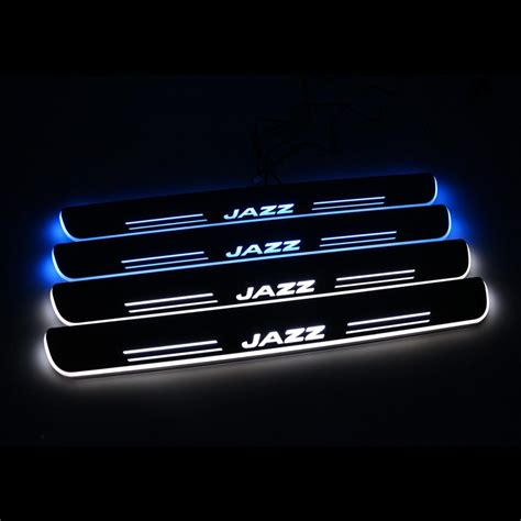 Led Jazz 2018 for honda jazz led door sills scuff plate thresholds pad tread plate welcome pedal from