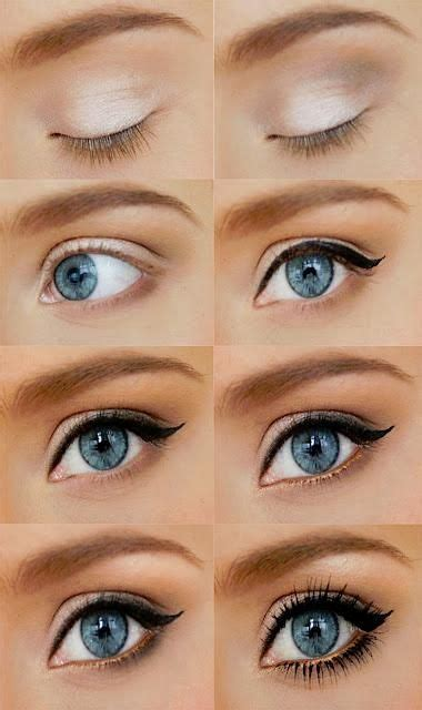 tutorial eyeliner simple tutorial eye makeup in steps for blue eyes weddings eve