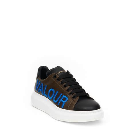 mcqueen sneakers mens lyst mcqueen oversized sneaker in black for