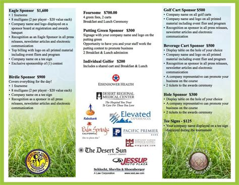 golf tournament brochure palm springs golf tournament brochure 1 palm springs