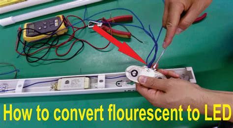 convert lights to led how to convert fluorescent light fitting t8 or t12 for