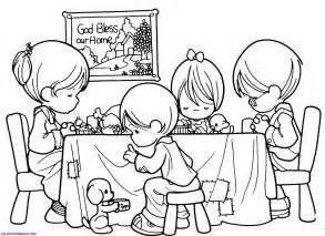 Child Eating Dinner Colouring Pages sketch template