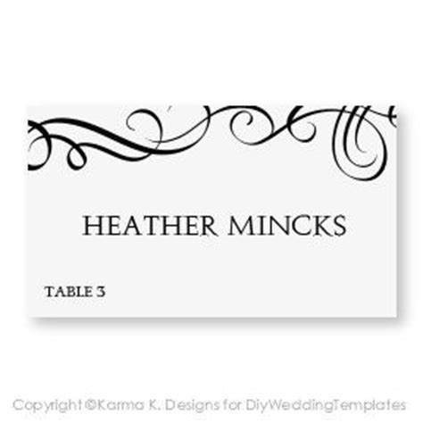 Place Card Word Template Jam by 17 Best Images About Wedding Stationery On Diy