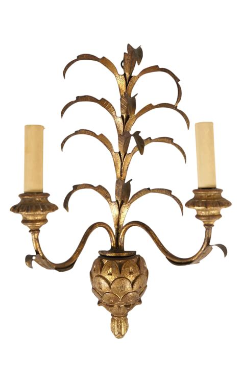 Pineapple Wall Sconce Golden Pineapple Wall Sconce Chairish
