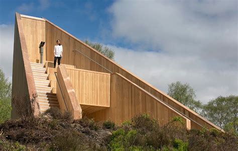 timber architecture loch lomond timber pyramid viewpoint unveiled may 2015
