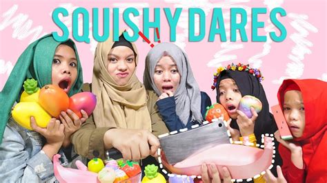 Squishy Licensed Tar Potong yang kalah squishy nya di potong squishy dares buah edition halilintar