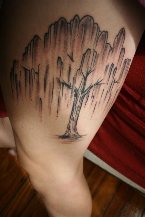 weeping willow tattoo 391 best tattoos legs images on