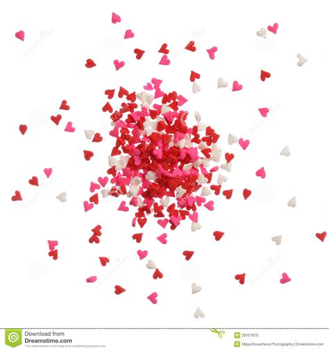 red and pink background royalty free stock images image background of heart sprinkles in red pink and white