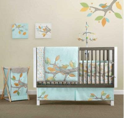 Organic Baby Crib by Aqcua Birds Baby Room