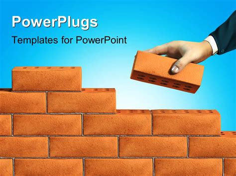 powerplugs templates for powerpoint powerpoint template of business adding brick to