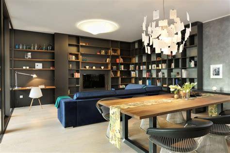 htons contemporary home design decor show appartement contemporain noir et bois