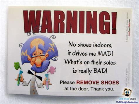 no shoes in house sale no shoes in the house 5x7 door sign it
