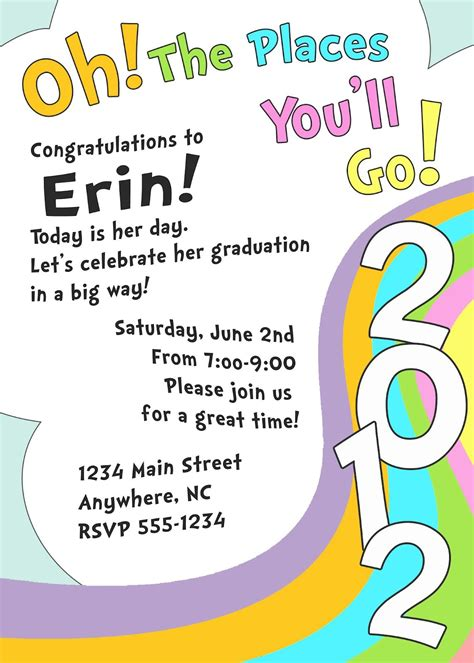 love   dr suess invitation templates graduation