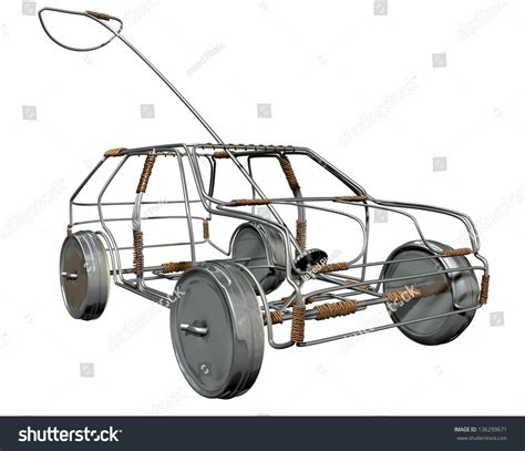 a traditional south handmade wire car made out