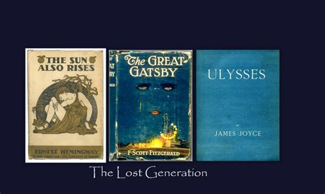 themes in lost generation literature the lost generation
