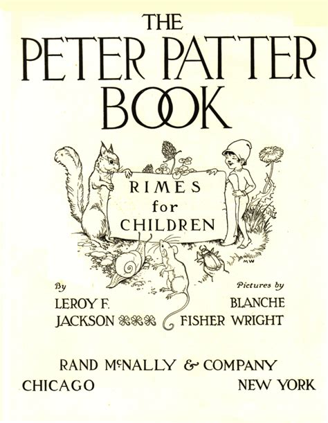 the patter book