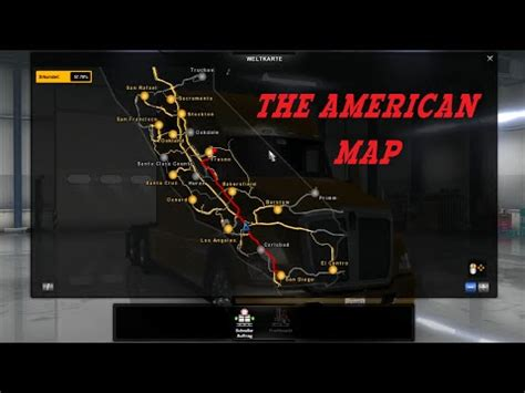 map usa truck simulator american truck simulator the american map