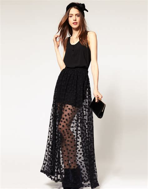 the seductive look of sheer maxi skirts sales alert shopping