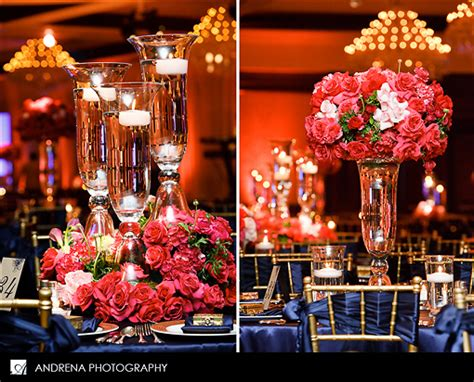 navy and coral wedding centerpieces color inspiration navy coral instyle events