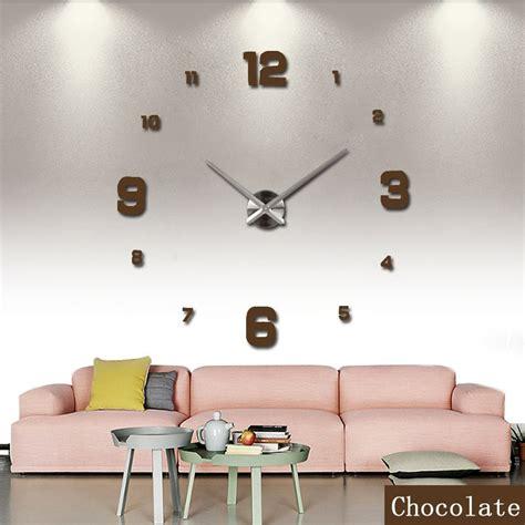 Jam Dinding Big Diy Wall Clock diy wall clock 80 130cm diameter elet00660 jam dinding black jakartanotebook