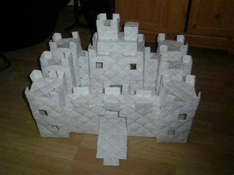 How To Make A Origami Castle - modular origami castle 2 by fuzzymo1994 on deviantart