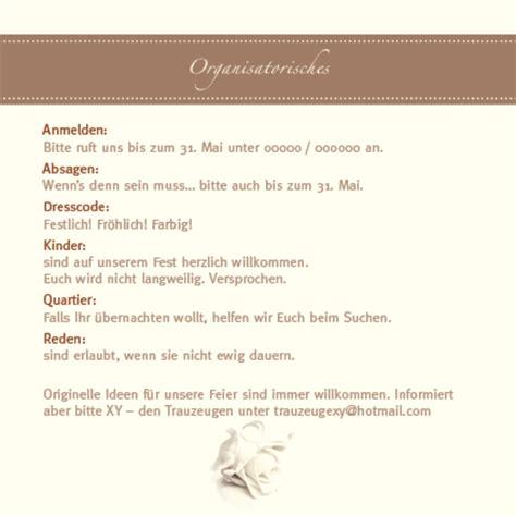 Hochzeitseinladung Infoblatt by Organisation Rund Um Die Hochzeit Texte F 252 R Informelles