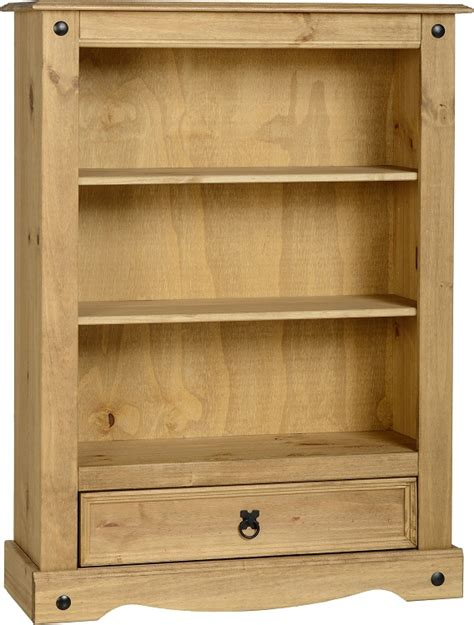 Pine Bookcase With Drawers by Corona Mexican Pine Bookcase Low With Drawer