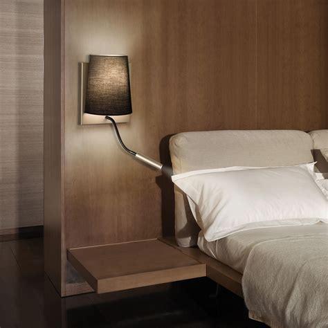 Applique Chambre B B 395 by Applique Avec Liseuse Led En M 233 Tal Et Tissu Noir Hauteur
