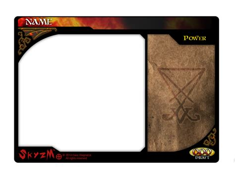 magic card template png skyzm hoe hell power card template by davywagnarok on