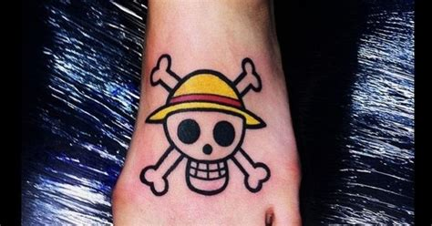 one piece jolly roger tattoo one piece straw hat pirates jolly roger tattoos