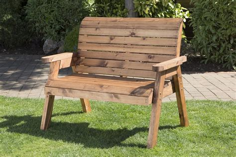 wooden garden seats and benches uk made fully assembled heavy duty wooden garden companion