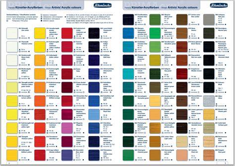 primacryl colour chart jpg 1204 215 852 acrylic paint