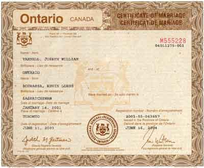 Marriage Records Toronto Equal Marriage For Same Couples Advocacy News The Marriage Is