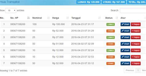 gratis absensi kehadiran siswa berbasis web dengan php aplikasi bisnis pulsa php gratis sedot code php free