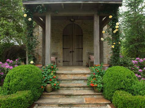 rustic farm  garden style front door decor hgtv