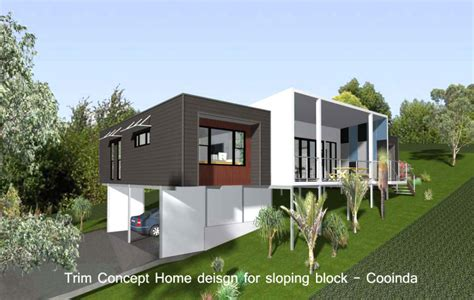 Pole Home Designs Sloping Block Modern House