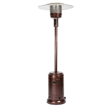 Propane Gas Patio Heater Sense 46 000 Btu Hammered Bronze Propane Gas Patio Heater 60485 The Home Depot