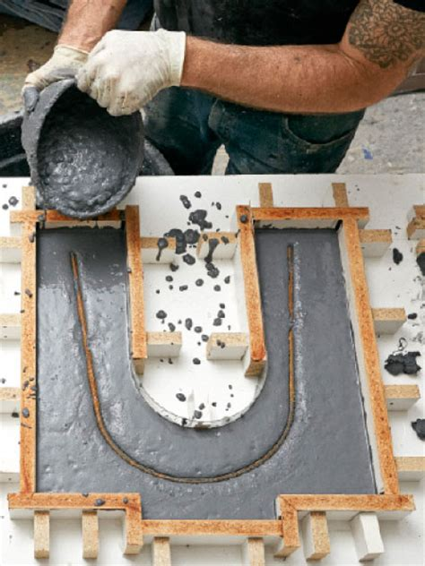 how to make a concrete bench top build this beautiful concrete bench