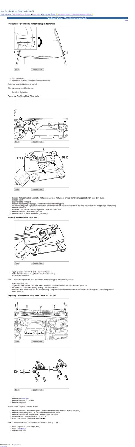 service manual how to replace 2009 volvo s40 rear wiper motor buy volvo s40 wiper arms