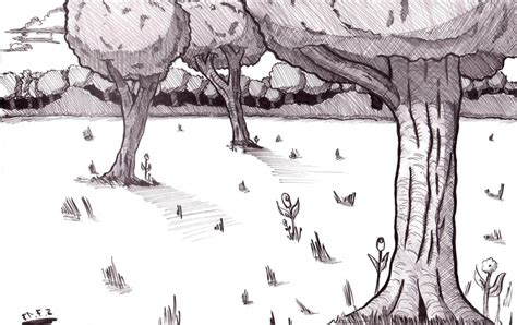 Drawing Backgrounds by Simple Forest Drawing Forest Drawing Backgrounds