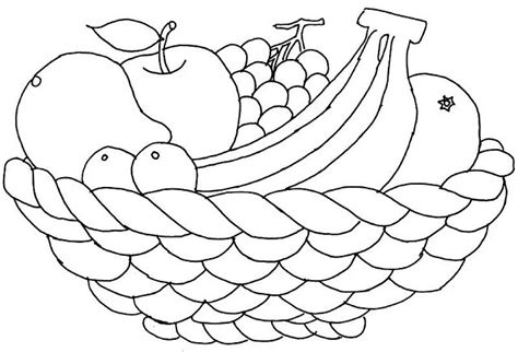 fruit bowl coloring page free coloring pages of fruit in a bowl