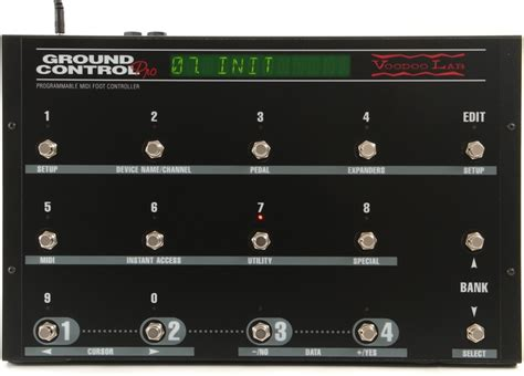 Eleven Rack Midi Foot Controller by Voodoo Lab Ground Pro Programmable Midi Foot