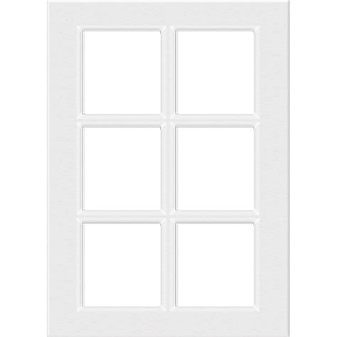 kaboodle 300mm 6 panel glass cabinet door gloss white