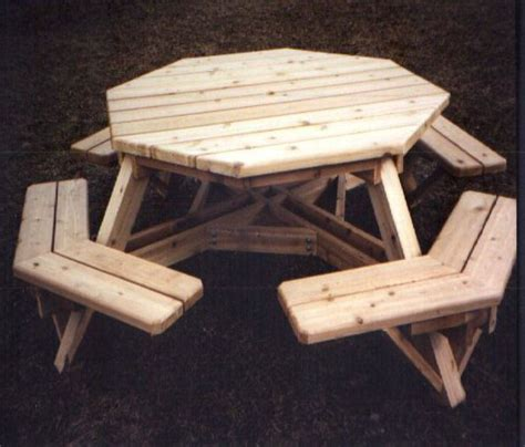 pdf free octagon picnic table plans plans free