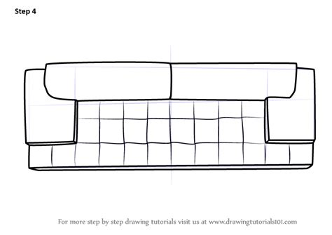 sofa drawing learn how to draw sofa couch top view furniture step by